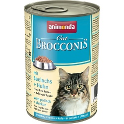 Консервы для кошек Animonda Brocconis Cat с сайдой и курицей 0,4 кг
